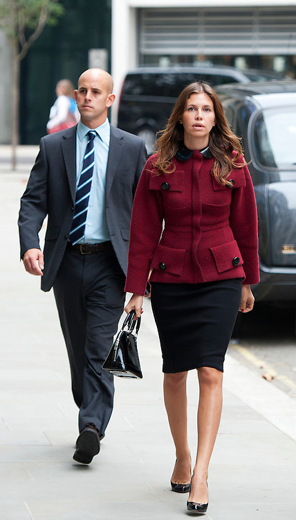 Dasha Zhukova (Girlfriend of Roman Abramovich )arrives The High Court on October 13, 2011 in London, England. Mr Berezovsky is alleging a breach of contract over business deals with fellow Russian and Chelsea Football Club owner Roman Abramovich and is claiming more than £3.2bn in damages..