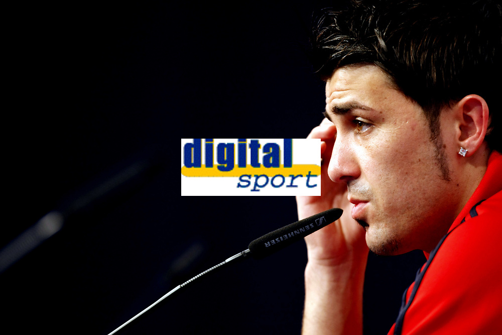 GEPA-1106085531 - NEUSTIFT IM STUBAITAL,AUSTRIA,11.JUN.08 - FUSSBALL - UEFA Europameisterschaft, EURO 2008, Nationalteam Spanien, Pressekonferenz. Bild zeigt David Villa (ESP).<br />