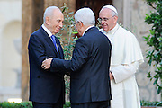 Pope Francis has chaired the Invocation for Peace in Middle East with Presidents Shimon Perez and Abu Mazen, and patriarch Bartolomeo I.<br /> &copy;Giuseppe Giglia
