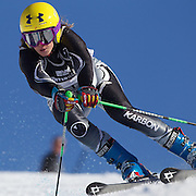 Taylor Rapley, New Zealand, in action during the Women's Giant Slalom competition at Coronet Peak, New Zealand during the Winter Games. Queenstown, New Zealand, 23rd August 2011. Photo Tim Clayton