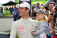 MOTORSPORT - WORLD RALLY CHAMPIONSHIP 2010 - RALLY BULGARIA / RALLYE DE BULGARIE - BOROVETS (BUL) - 08 TO 11/07/2010 - PHOTO : FRANCOIS BAUDIN / DPPI - <br /> SEBASTIEN LOEB (FRA) - CITROEN TOTAL RALLY TEAM - CITROEN C4 WRC - AMBIANCE PORTRAIT WITH DAUGHTER VALENTINE