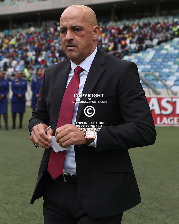 Owen Da Gama (Head Coach) of Bafana Bafana South Africa during the match between Bafana Bafana South Africa and Guinea-Bissau at Moses Mabhida Stadium in Durban South Africa,25 March 2017 (Steve Haag)