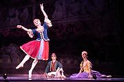 Dance phenomenon Les Ballet Trockedero de Monte Carlo is the award-winning, all-male, comedy ballet company hailing from New York. <br /> <br /> La Trovatiara Pas de Cinq, choreographed by Peter Anastos and featuring Joshua Thake, Jack Furlong, Jr, Alberto Pretto, Robert Vega &amp; Kevin Garcia. <br /> Also, Dying Swan danced by Duane Gosa.<br /> Peacock Theatre, London.<br /> <br /> &copy; Tony Nandi 2018