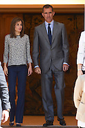 062416 Spanish Royals Attend audience at Palacio de la Zarzuela