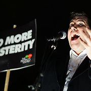 Richard Bergen MP join the proest ahead of Budget Day against the Government's plans to overhaul the welfare system by forcing people onto Universal Credit outside Downing Street on 21st November 2017,  London, UK.