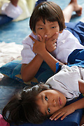 Chao Leh children at Adang school having a break.