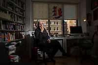NEW YORK, NY &ndash; JANUARY 3, 2014: Author Betty Medsger in her Manhattan home, was a Washington Post reporter who received stolen FBI files in 1971 after the Media, PA, FBI office burglary. The burglars were early Snowden-types, and were never caught. Betty wrote a story and the FBI was changed forever. Decades later she met the burglars and is now writing a book.<br /> <br /> Photo by Robert Caplin