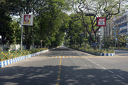 A deserted road at Saltlake city in Kolkata. India is going through the 2nd phase of lockdown due to covid 19 pandemic. This is to curb the spread of Covid 19 in the country. Kolkata, West Bengal, India, April 19, 2020. Photo by Arindam Mukherjee/ABACAPRESS.COM