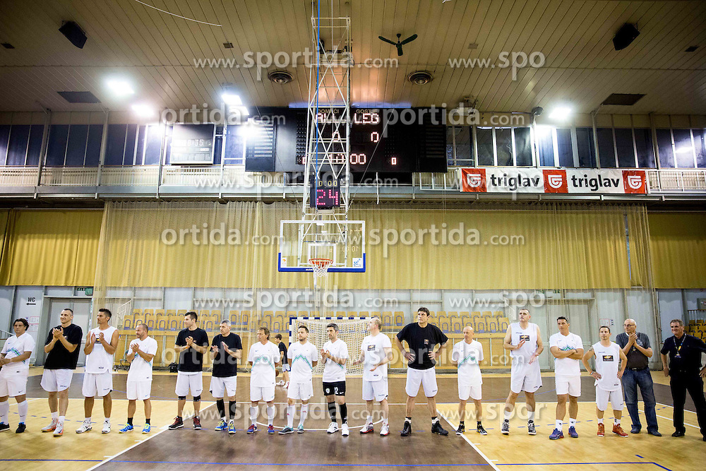 Legends during football and basketball charity event All Legends by Olimpiki, on June 9, 2015 in Hala Tivoli, Ljubljana, Slovenia. Photo by Vid Ponikvar / Sportida