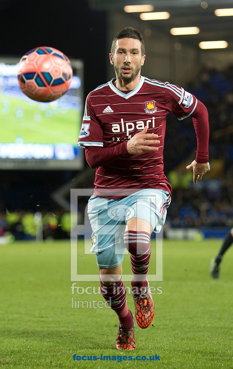 Morgan Amalfitano of West Ham United during the FA Cup match at Goodison Park, Liverpool<br /> Picture by Russell Hart/Focus Images Ltd 07791 688 420<br /> 06/01/2015