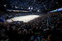 Overview dressage arena<br /> LONGINES FEI World Cup™ Finals Paris 2018<br /> © Hippo Foto - Stefan Lafrentz<br /> 14/04/2018