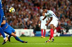 Marcus Rashford of England scores a goal to make it 2-1 - Mandatory by-line: Robbie Stephenson/JMP - 04/09/2017 - FOOTBALL - Wembley Stadium - London, United Kingdom - England v Slovakia - 2018 FIFA World Cup Qualifier