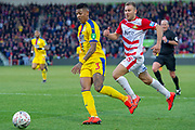 Crystal Palace defender Patrick van Aanholt (3) during the The FA Cup 5th round match between Doncaster Rovers and Crystal Palace at the Keepmoat Stadium, Doncaster, England on 17 February 2019.