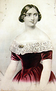 Jenny Lind, 1820-87. This portrait dates from about 1845, when Goldschmidt first saw Lind in performance and she was at the height of her fame. Lind managed her image carefully, ensuring that her reputation for combining popularity with respectability has survived.