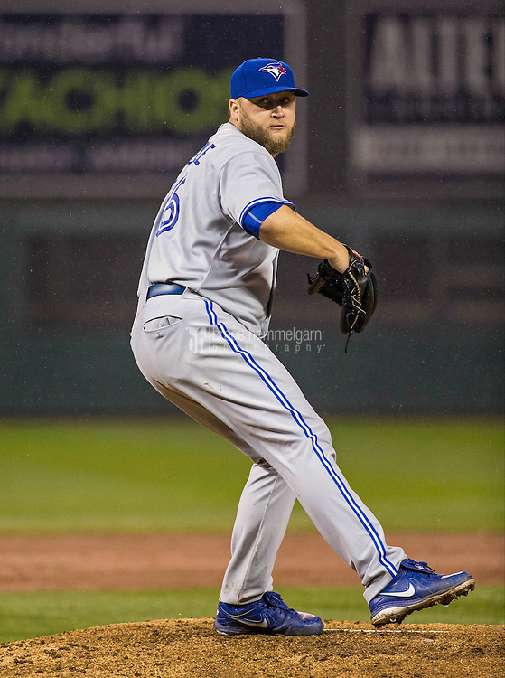 MINNEAPOLIS, MN- MAY 29: Mark Buehrle #56 of the Toronto Blue Jays pitches against the Minnesota Twins on May 29, 2015 at Target Field in Minneapolis, Minnesota. The Blue Jays defeated the Twins 6-4. (Photo by Brace Hemmelgarn) *** Local Caption *** Mark Buehrle