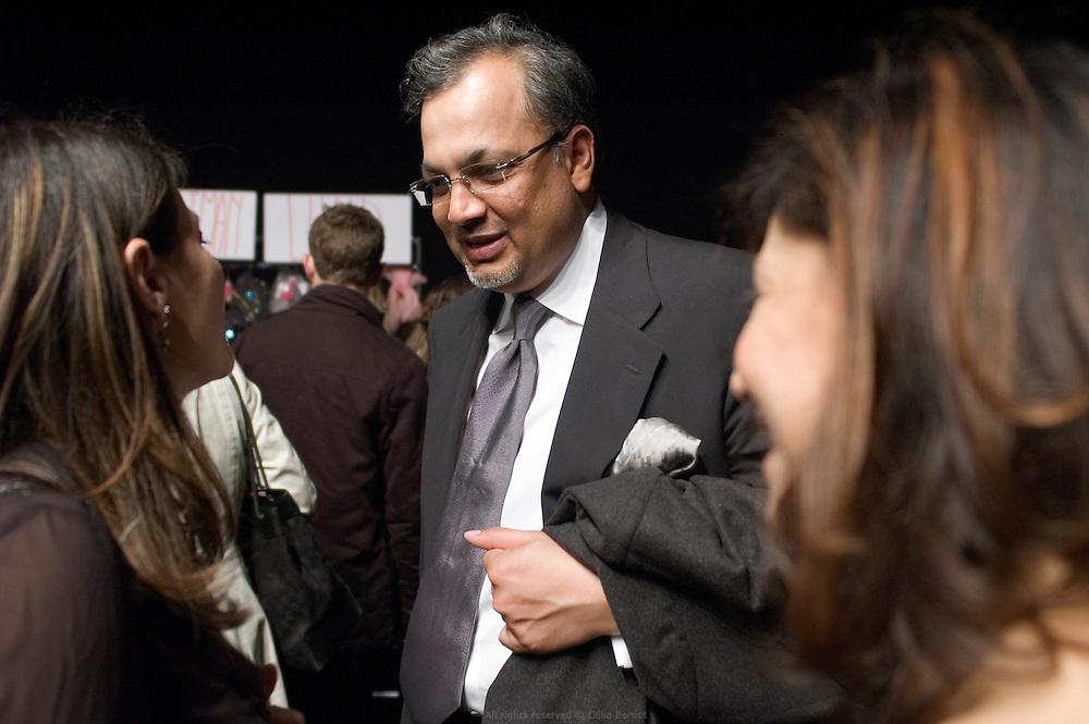 Asim Abdullah, new owner of Ungaro, backstage after Ungaro fashion show