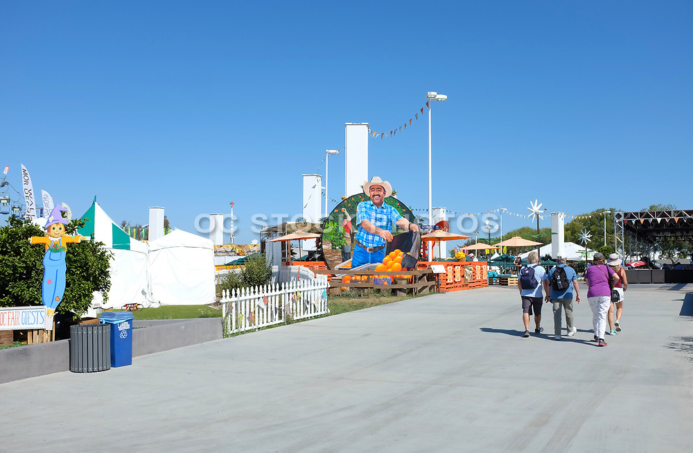 People Entering the OC Fair at the Orange Grove Exhibit