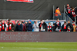 Bristol City fans applaud the team as they leave after West Ham win the game 0-1 - Photo mandatory by-line: Rogan Thomson/JMP - 07966 386802 - 25/01/2015 - SPORT - FOOTBALL - Bristol, England - Ashton Gate Stadium - Bristol City v West Ham United - FA Cup Fourth Round Proper.