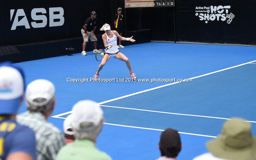 Poland's Urszuka Radwanska in action on Day 3 at the ASB Classic WTA International. Auckland, New Zealand. Wednesday 7 January 2015. Copyright photo: Andrew Cornaga/www.photosport.co.nz