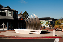 Sculpture, Coming About, Tiburon, California, USA.  Photo copyright Lee Foster.  Photo # california108874