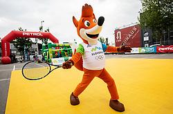 OKS Foksi maskota, Igrajmo tenis, teniski dogodek za promocijo tenisa med otroki, on May 18, 2019, in BTC, Ljubljana, Slovenia. Photo by Vid Ponikvar / Sportida