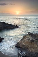 Sunset over Pescadero Beach on the San Mateo Coast California