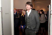 ALEX JAMES- THE LAUNCH OF THE KRUG HAPPINESS EXHIBITION AT THE ROYAL ACADEMY, London. 12 December 2011.