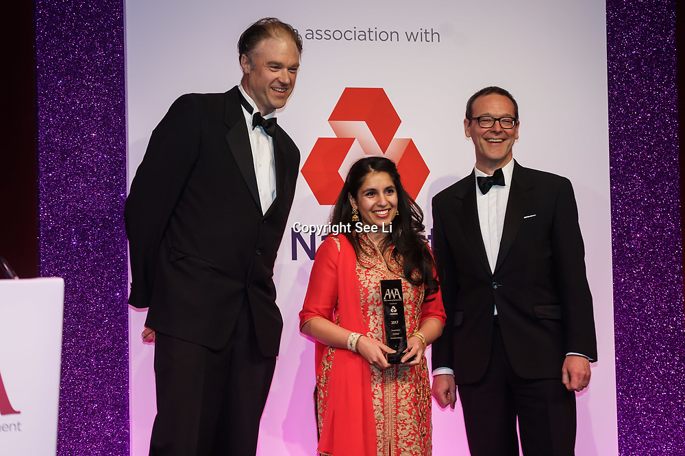 London, UK. 10th May 2017. Young Achiever awards to Anoushka Babbar at The Asian Women of Achievement Awards 2017 at the London Hilton on Park Lane Hotel. Photo by See li