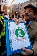 Roma, 11 Gennaio 2013.In fila per depositare i simboli dei partiti al ministero dell'Interno  in vista del voto..La lista: Recupero Maltolto. Aqua, senza la c, bene comune..