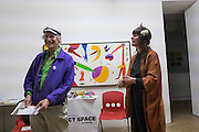 MICHAEL HOROVITZ Michael Horovitz and Vanessa Vie with guests Carlos Puente and Isabel del Rio, Stretches of Spain event, Art Project Space, Bermondsey St. London. 31 March 2016