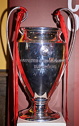 CHICAGO, ILLINOIS, USA - Wednesday, July 17, 2019: The European Cup trophy on display at a supporters' event at AJ Hudson's Public House in Chicago on day two of the club's pre-season tour of America. Liverpool won the UEFA Champions League for a sixth time in Madrid in June 2019. (Pic by David Rawcliffe/Propaganda)