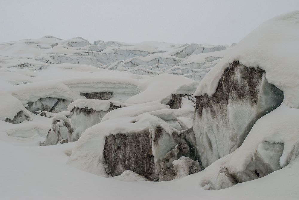 Gornergletscher seracs, below the MonteRosa hutte