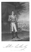 Arthur Wellesley, Duke of Wellington (1769-1852) English soldier and stateman, while serving in India. Engraving