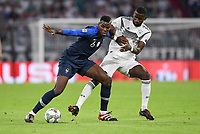 FUSSBALL UEFA Nations League in Muenchen Deutschland - Frankreich       06.09.2018 Paul Pogba (li, Frankreich) gegen Antonio Ruediger (re, Deutschland) --- DFB regulations prohibit any use of photographs as image sequences and/or quasi-video. ---