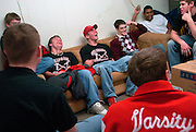 2006.02.02 HILLSBOROWRESTLER SPORTS : (center) Hillsboro sophomore wrestler Dustin Carter hangs out having a good time with his teammates before their trip to Amelia Thursday February 2, 2006. The Enquirer/Jeff Swinger