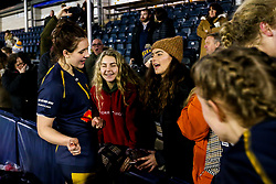 Megan Varley of Worcester Warriors Women with fans - Mandatory by-line: Robbie Stephenson/JMP - 11/01/2020 - RUGBY - Sixways Stadium - Worcester, England - Worcester Warriors Women v Richmond Women - Tyrrells Premier 15s