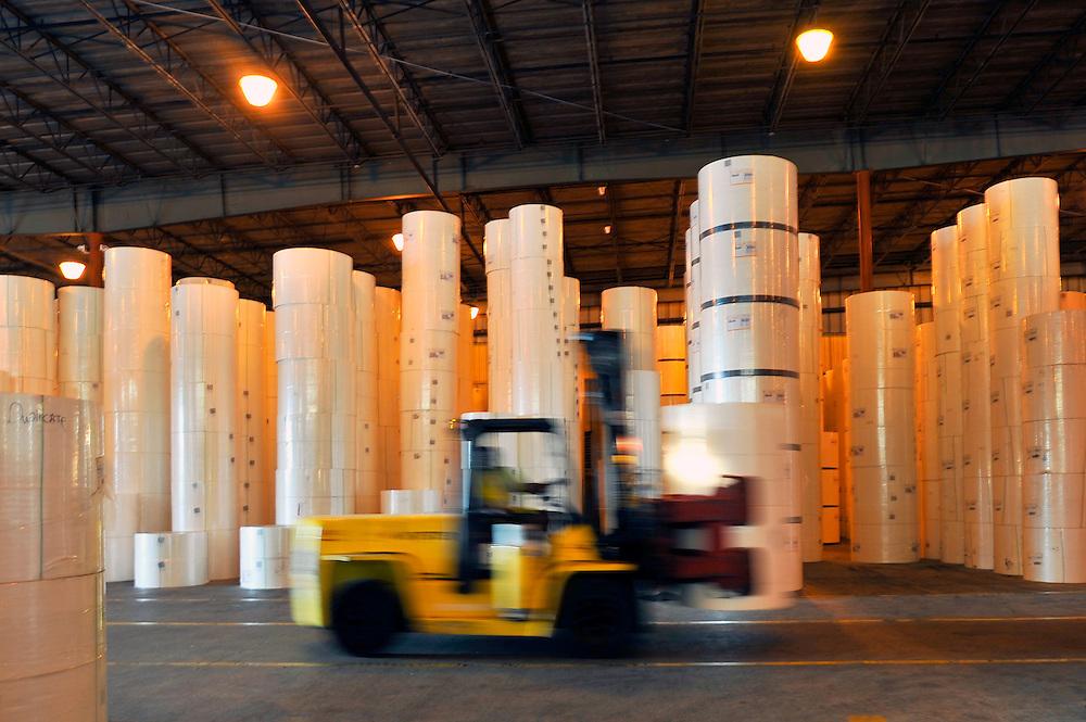 The Georgia Ports Authority paper product warehouse facility, Wednesday, Sept. 12, 2012 in Savannah, Ga. (GPA Photo/Stephen Morton)