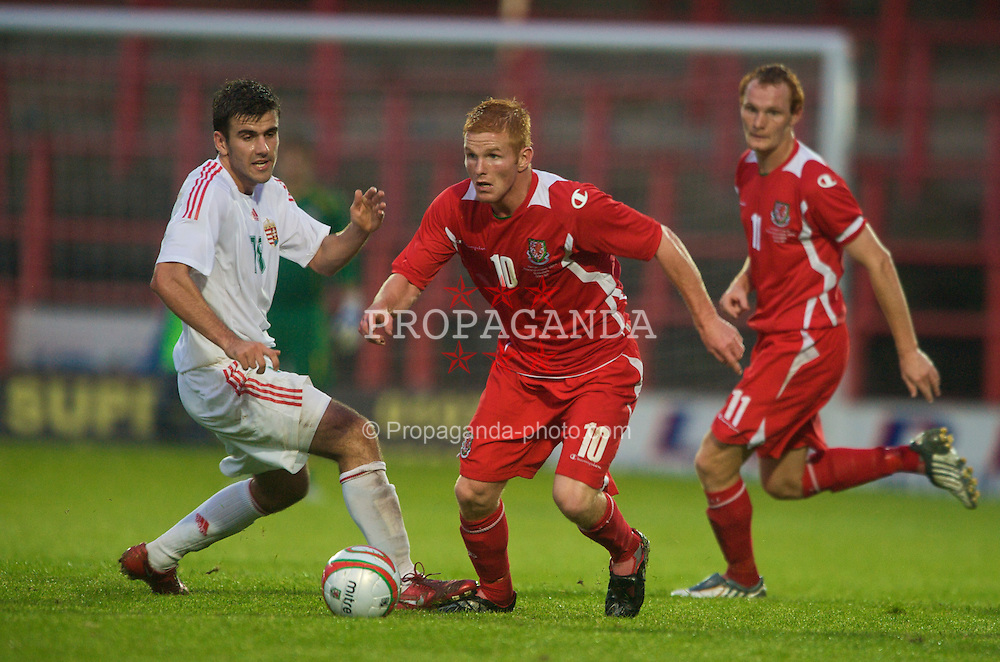 Wrexham, Wales - Wednesday, August 12th, 2009: Wales' Marc Williams in action during the UEFA Under 21 Championship Qualifying Group 3 match at the Racecourse Ground. (Photo by Chris Brunskill/Propaganda)