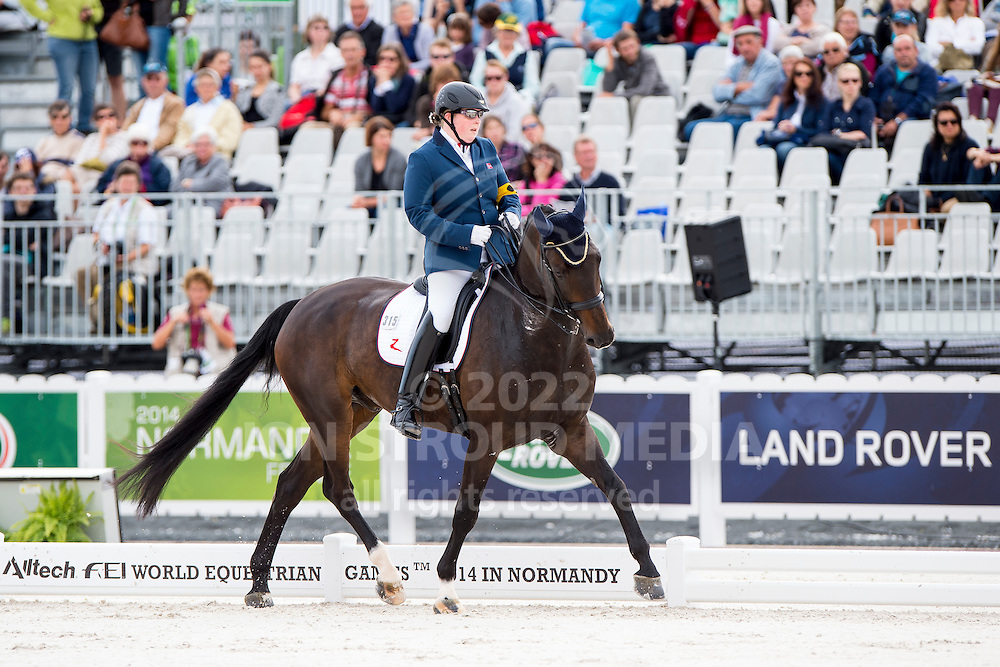 Anne Cecilie Ore, (NOR), Fidan 3 - Team Competition Grade III Para Dressage - Alltech FEI World Equestrian Games&trade; 2014 - Normandy, France.<br /> &copy; Hippo Foto Team - Jon Stroud <br /> 25/06/14