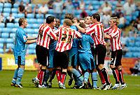 Photo: Ed Godden.<br /> Coventry City v Sunderland. Coca Cola Championship. 06/08/2006. Tensions run high as both teams clash.