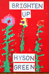 Brighten up Hyson Green; Children's paintings in the community,