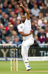 South Africa's Vernon Philander bowls during day two of the Second Investec Test match at Trent Bridge, Nottingham.