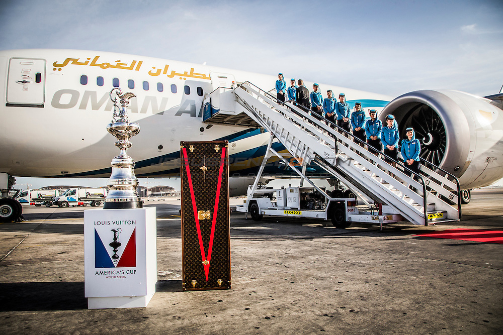 America's Cup arrives in Muscat. Louis Vuitton America's Cup World Series Oman 2016. Muscat ,The Sultanate of Oman.Image licensed to Jesus Renedo/Lloyd images/Oman Sail