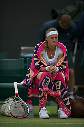 LONDON, ENGLAND - Monday, July 2, 2012: Petra Kvitova (CZE) during the Ladies' Singles 4th Round match on day seven of the Wimbledon Lawn Tennis Championships at the All England Lawn Tennis and Croquet Club. (Pic by David Rawcliffe/Propaganda)