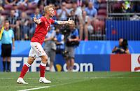 FUSSBALL WM 2018  Vorrunde  Gruppe C  ----- Daenemark - Frankreich    26.06.2018 Simon Kjaer (li, Daenemark)