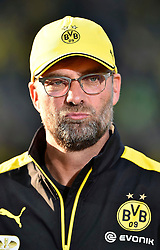 30.05.2015, Olympiastadion, Berlin, GER, DFB Pokal, Borussia Dortmund vs VfL Wolfsburg, Finale, im Bild Portrait Portroet Trainer Juergen Klopp BVB Borussia Dortmund skeptisch // during German DFB Pokal Final match between Borussia Dortmund and VfL Wolfsburg at the Olympiastadion in Berlin, Germany on 2015/05/30. EXPA Pictures &copy; 2015, PhotoCredit: EXPA/ Eibner-Pressefoto/ Weber<br /> <br /> *****ATTENTION - OUT of GER*****