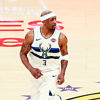 30 March 2018: Milwaukee Bucks guard Jason Terry (3) is seen during the Milwaukee Bucks 124-122 victory over the LA Lakers, at the Staples Center, Los Angeles, California, USA.