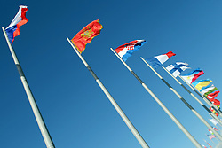 The XXII Winter Olympic Games 2014 in Sotchi, Olympics, Olympische Winterspiele Sotschi 2014<br /> Olympic park, Olympischer Park, flags of nations, Nationalflagge, Nationalflaggen, Fahne, Nationen,  *** Local Caption *** © pixathlon