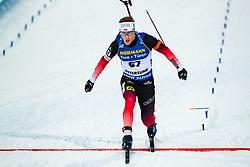 March 9, 2019 - –Stersund, Sweden - 190309 Erlend Bjøntegaard of Norway crosses the finish line in the Men's 10 KM sprint during the IBU World Championships Biathlon on March 9, 2019 in Östersund..Photo: Johan Axelsson / BILDBYRÃ…N / Cop 245 (Credit Image: © Johan Axelsson/Bildbyran via ZUMA Press)