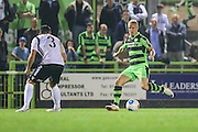 Forest Green Rovers Marcus Kelly (10) passes the ball during the Vanarama National League match between Forest Green Rovers and Eastleigh at the New Lawn, Forest Green, United Kingdom on 13 September 2016. Photo by Shane Healey.
